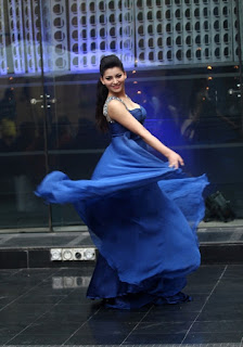 Urvashi Rautela flaunting a blue gown