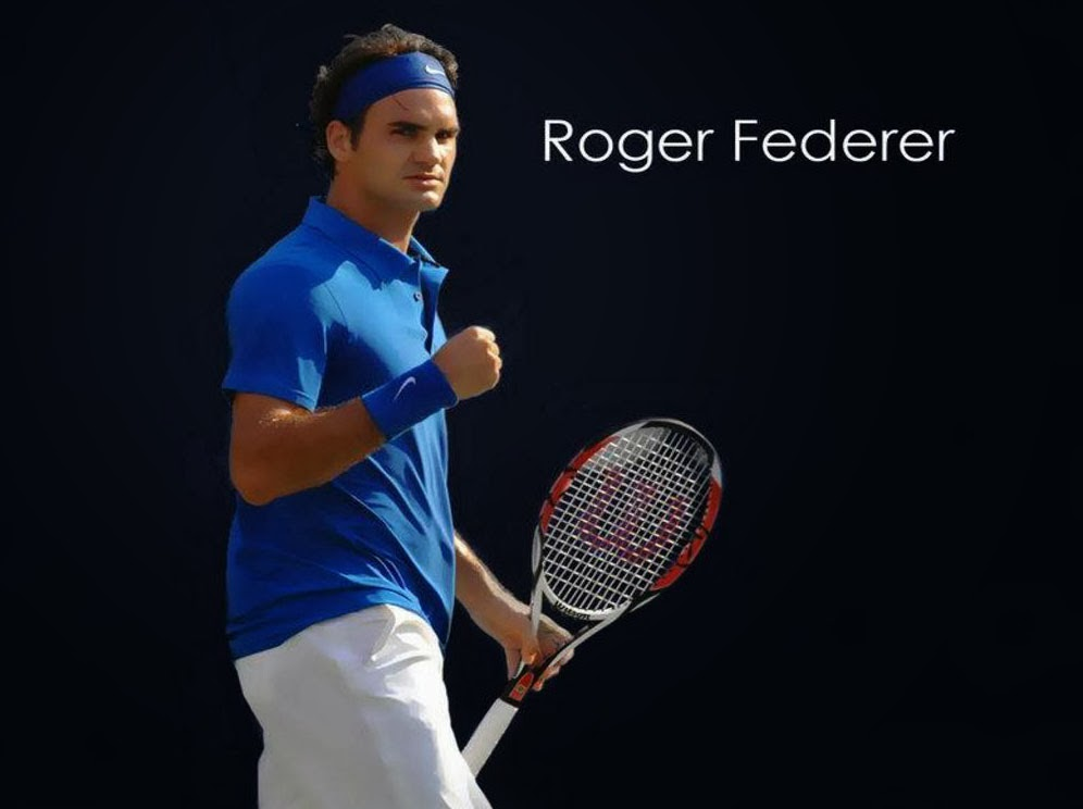 Roger Federer Beautiful Latest HD Wallpaper 2013