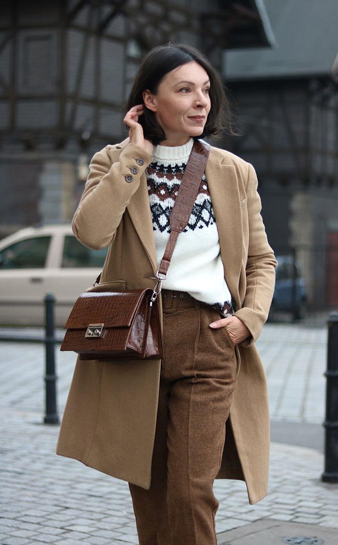 Sweter w stylu norweskim