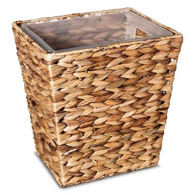 hyacinth wastebasket