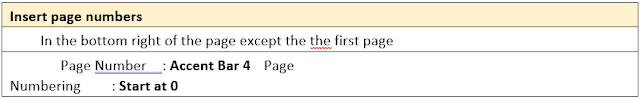 Task 4 – Insert Page Numbers