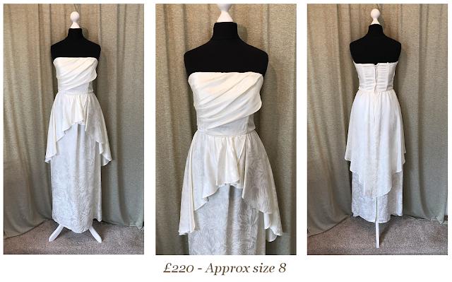 Strapless Pelplum Vintage Wedding Dress