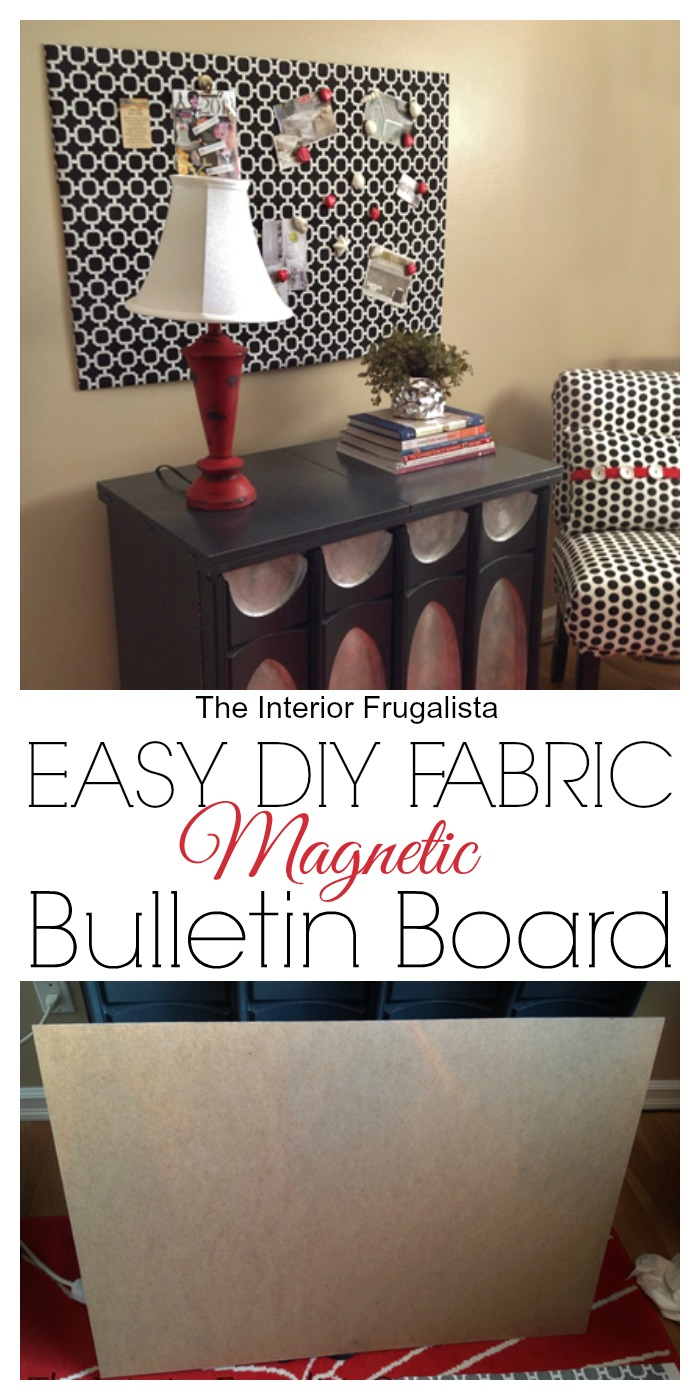 Easy diy fabric magnetic bulletin board the interior for Diy fabric bulletin board ideas