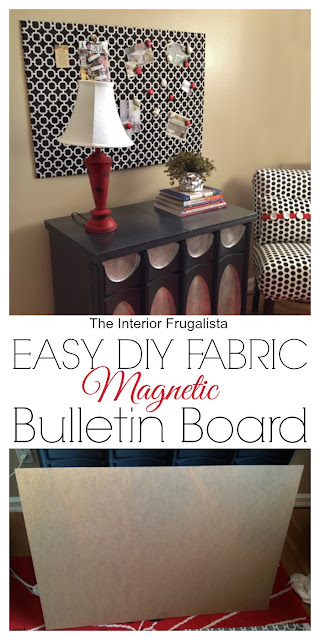 Easy DIY Fabric Magnetic Bulletin Board