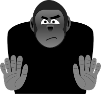 Lying monkey