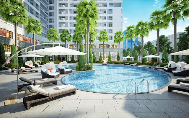 Bể bơi ngoài trời tại dự án An Bình City
