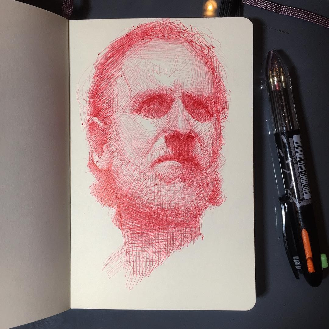 14-sketch-Arthur-Gains-Moleskine-Sketches-of-Celebrities-and-other-Portraits-www-designstack-co