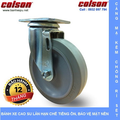 Bánh xe cao su đặc xoay phi 75 - 3 inch chịu lực 82kg | S2-3056-TPE www.banhxedayhang.net