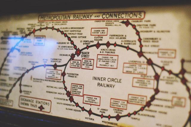 Vintage London underground map