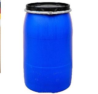 Thùng phuy nhựa có đai sắt 220l