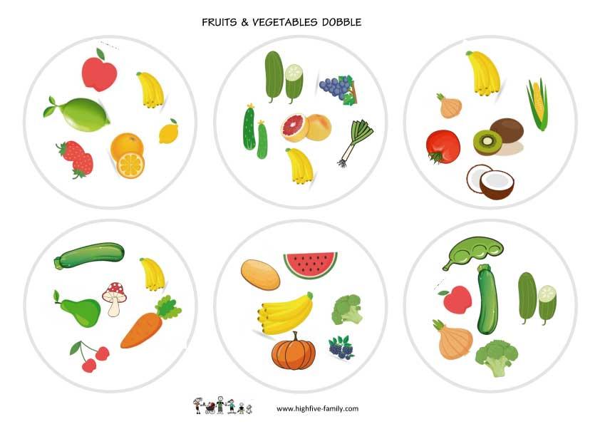 jeu Dobble fruits et légumes