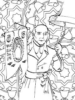 Mandala del cura Hidalgo para colorear | Dibujo de Miguel Hidalgo para colorear