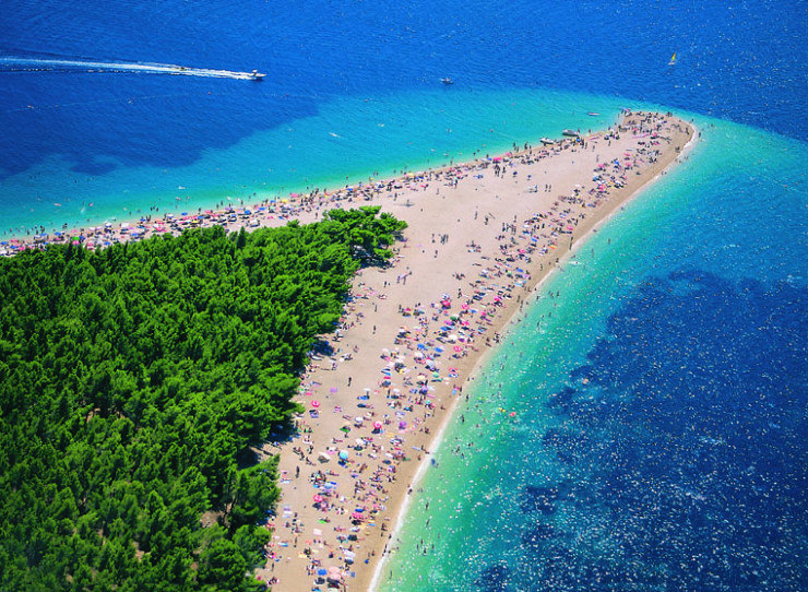 33 Amazing Beaches From Around The World - Golden Horn (Zlatni Rat), Brac Island, Croatia