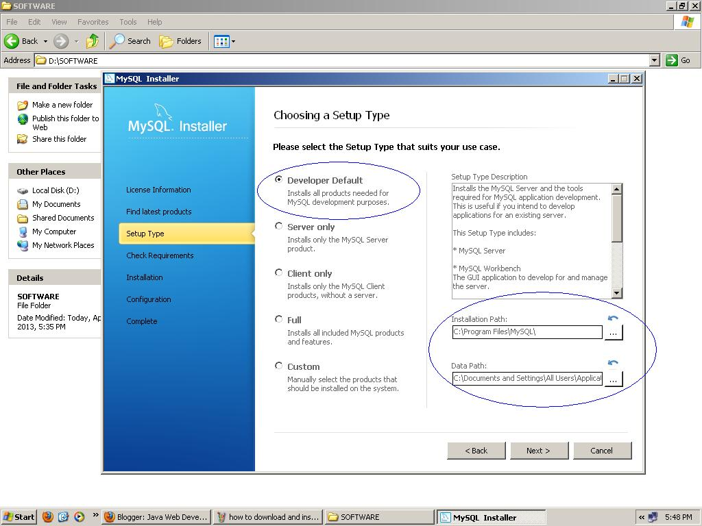 database download for windows