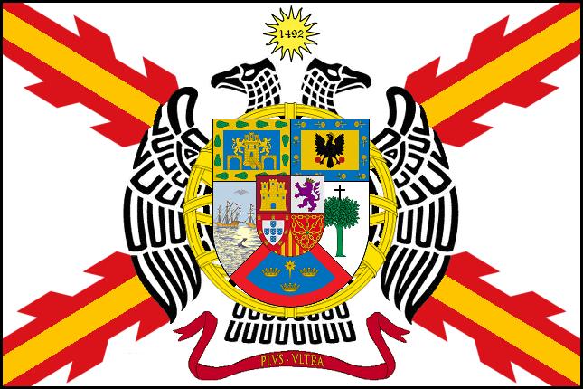 Bandera de la Federación Hispánica diseñada por Cabeleira Santoro