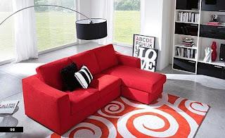 Sala sofá rojo