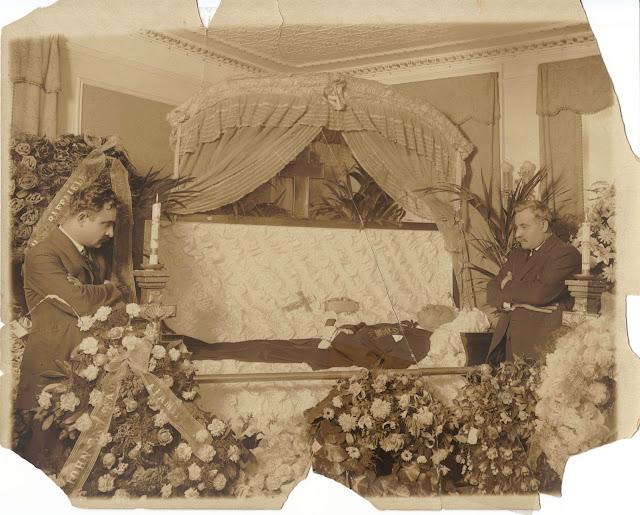 my great great grandfather Antonio Luigi Saviano in his coffin