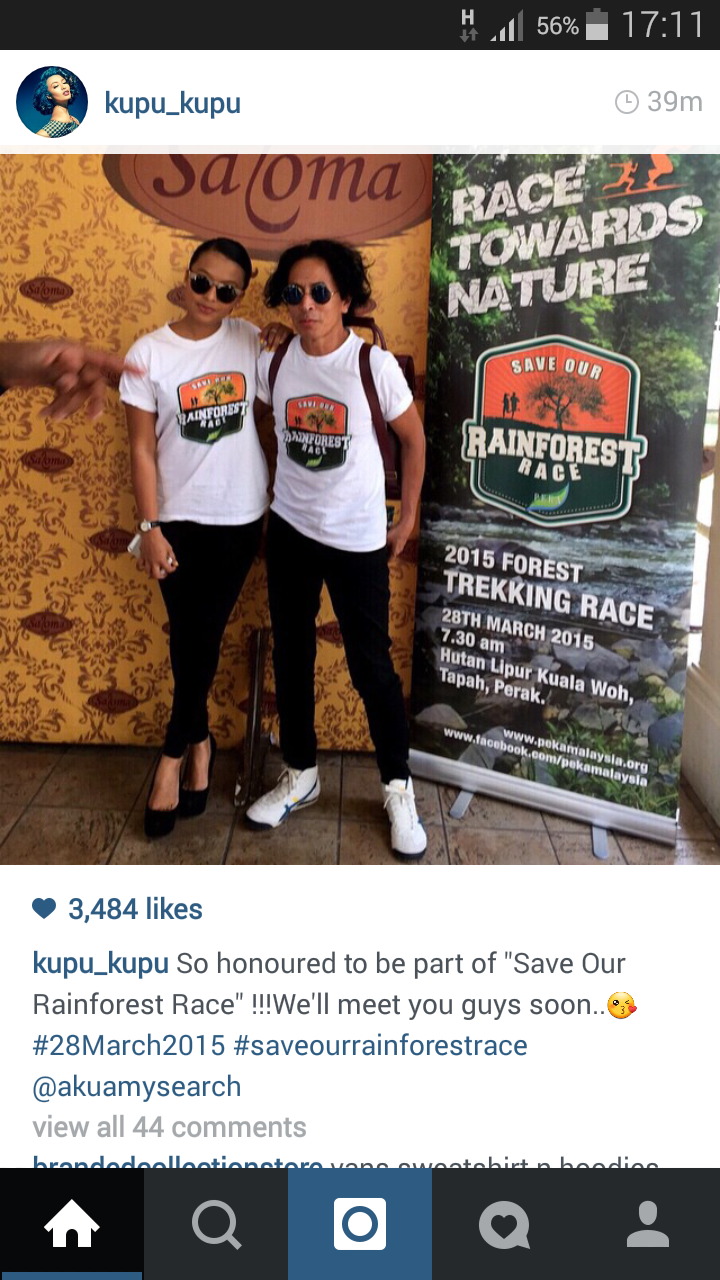 Nabila dan Amy Search Sertai Rainforest Race 2015