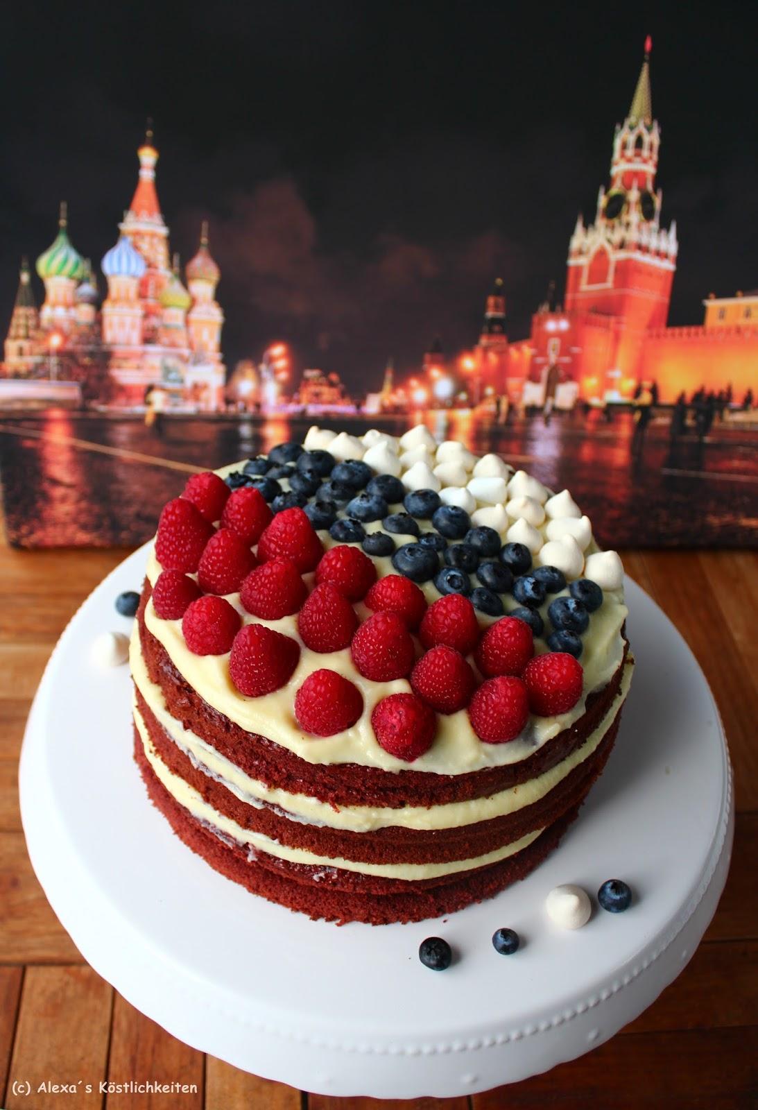 Alexa S Kostlichkeiten Russland Flaggen Torte