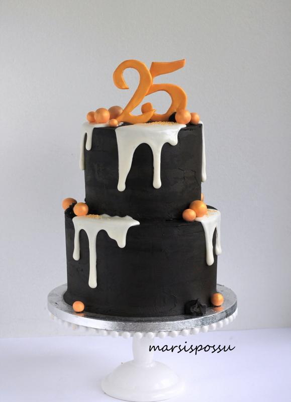 kakku 25-vuotissynttäreille