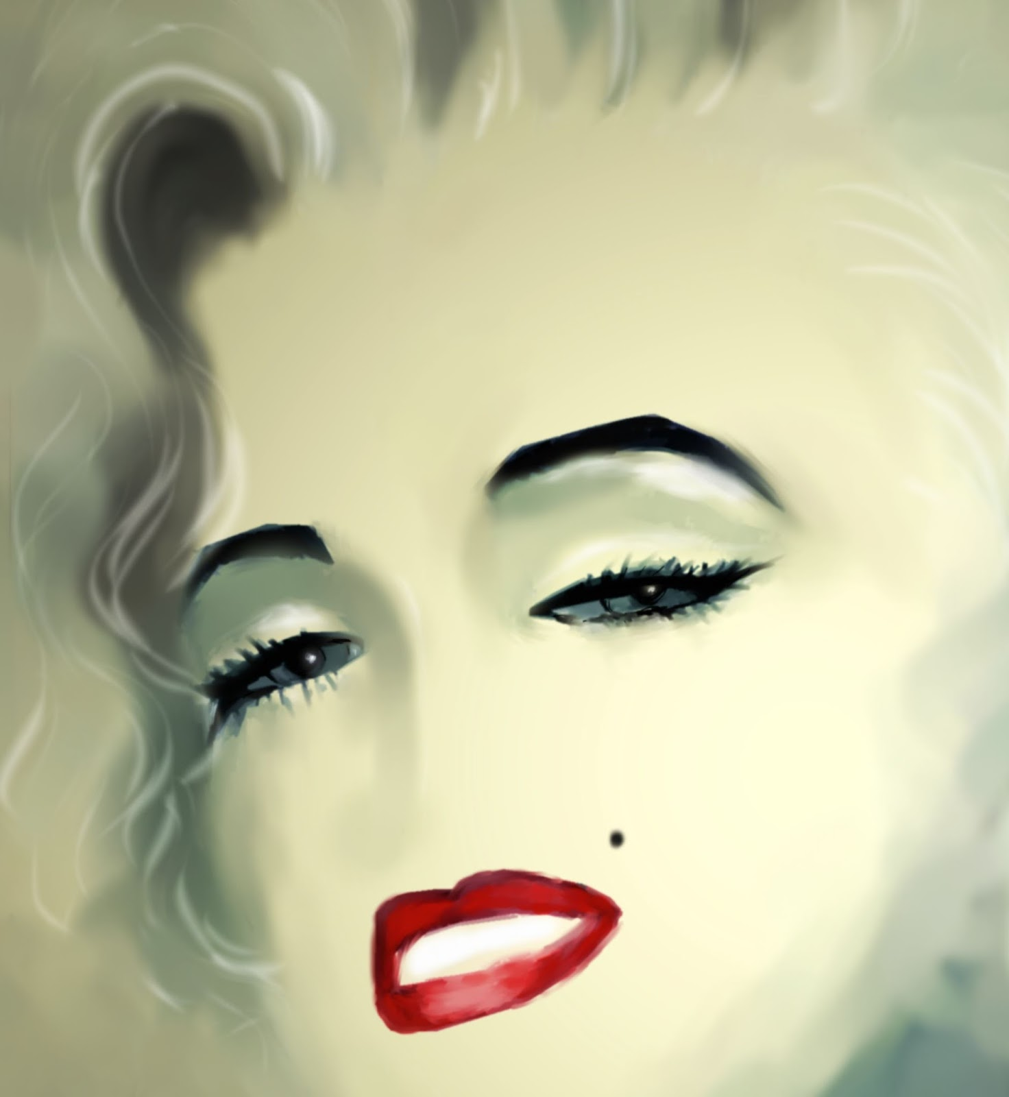 Marilyn Monroe - digital painting - Trish Loader Visual Artist