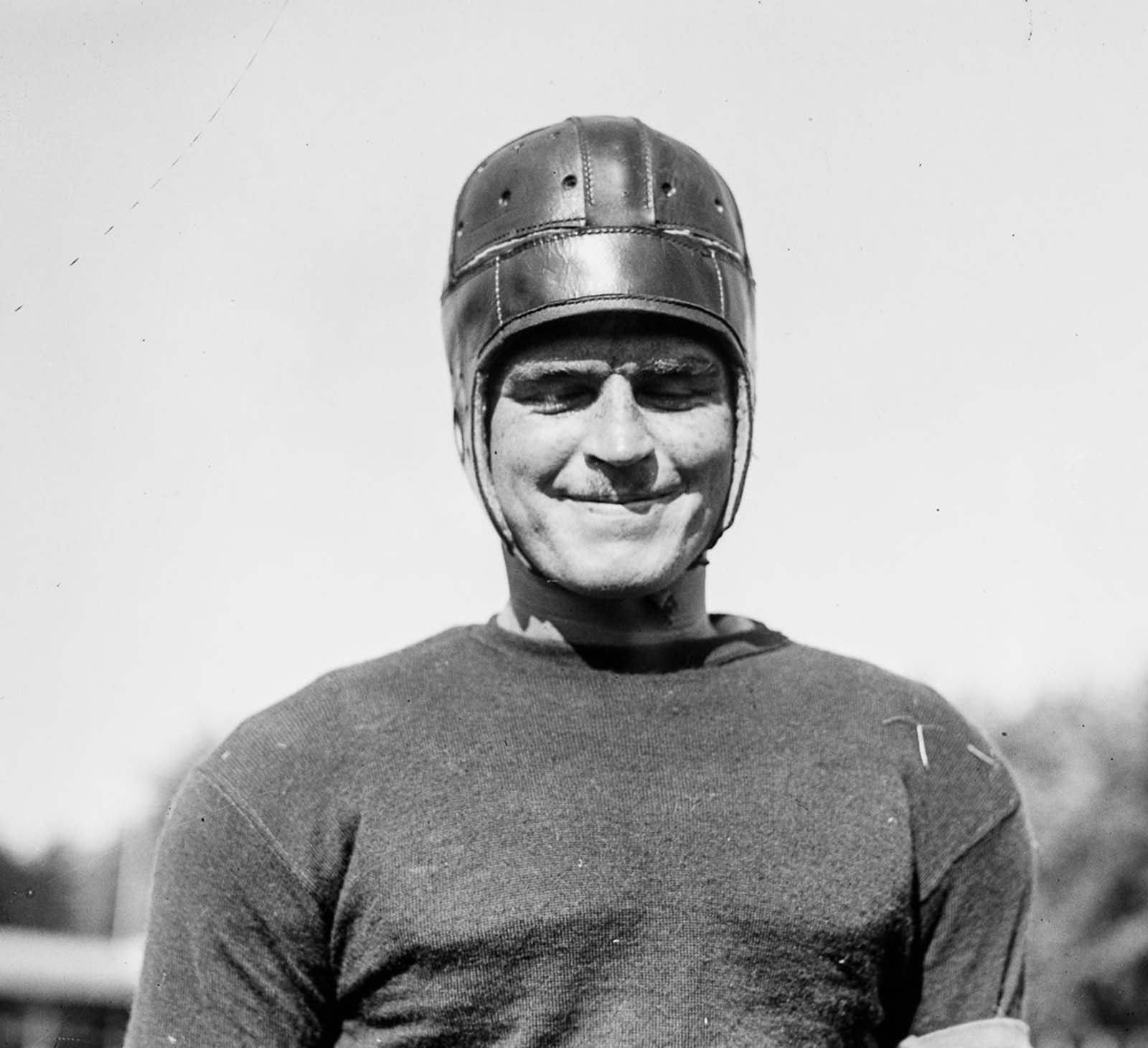 Georgetown University player John Thornton. 1918.