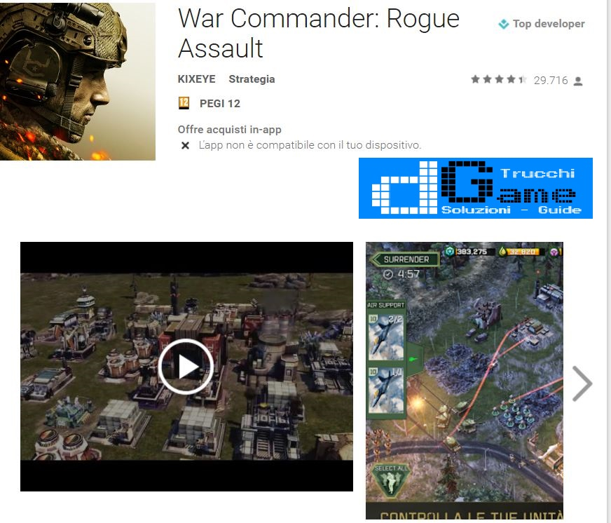 Trucchi War Commander: Rogue Assault Mod Apk Android v2.14.0