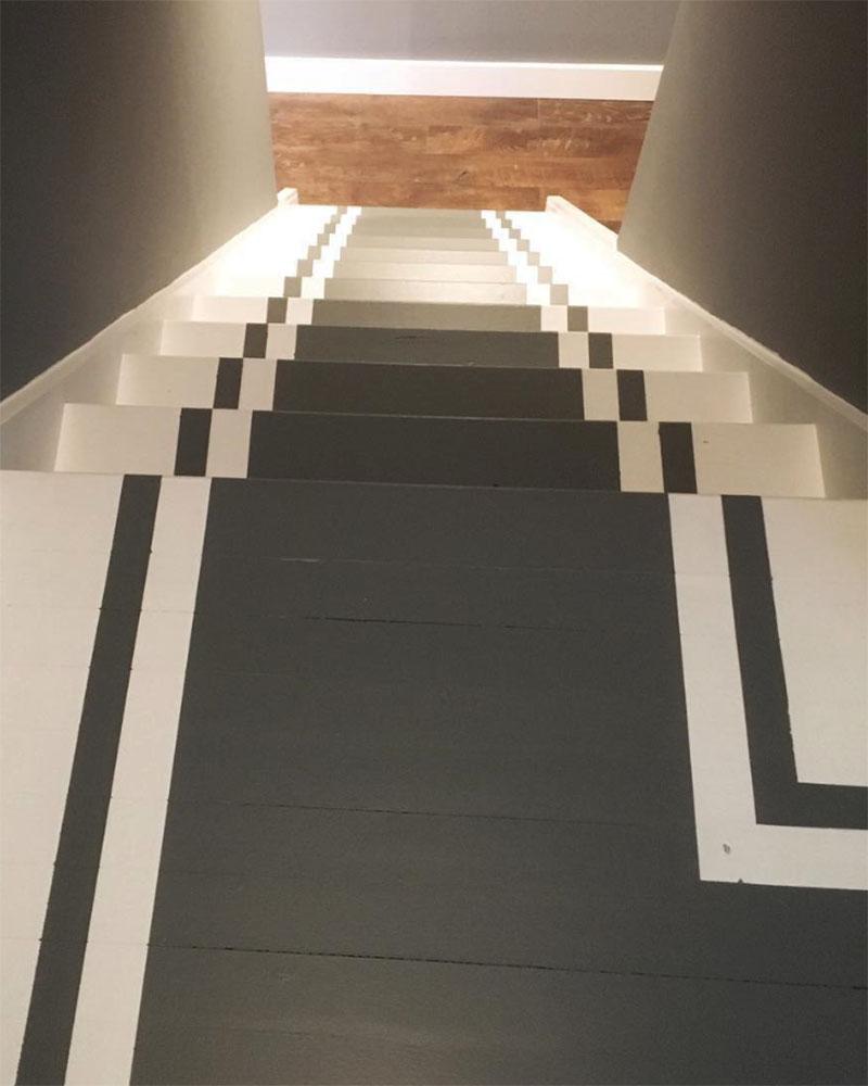 Escalier peint en blanc photos de conception de maison for Peindre un escalier en blanc