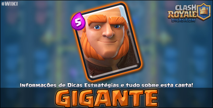 Carta do Gigante em Clash Royale
