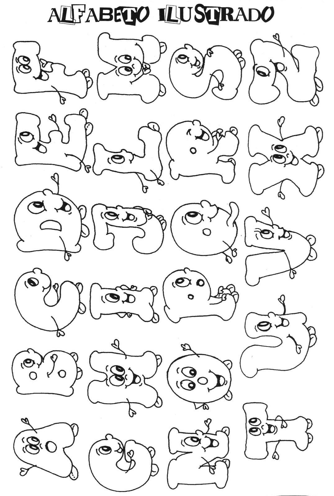 Lettere da colorare per bambini - Lettere animali da stampare ...
