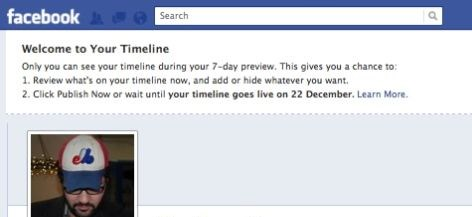 timeline facebook activate