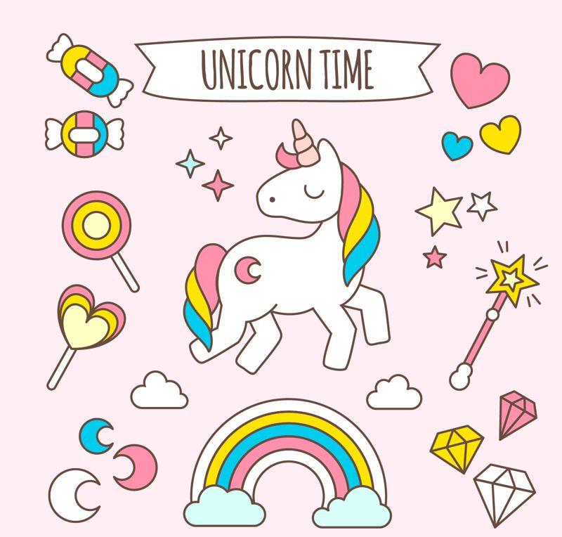 imagen de unicornio cute