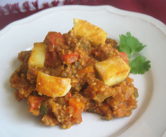 Quinoa with Mixed Vegetables and Paneer