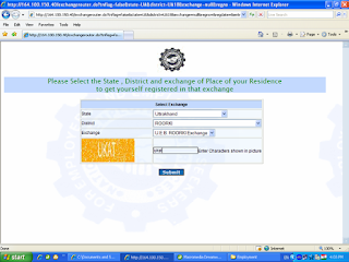 Online Registration in employment Uttarakhand
