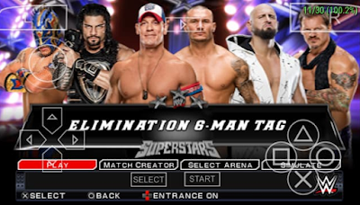 WWE 2K 17 ISO PPSSPP+Save Data Terbaru For Android
