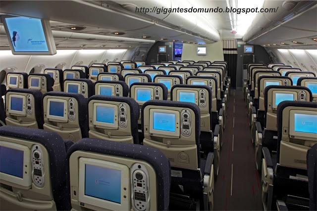 Interior do Airbus A380