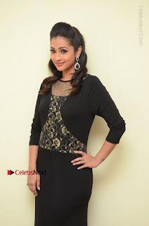 Telugu Actress Manasa Manohar Stills in Black Long Dress at Naku Nene Thopu Turumu Trailer Launch  0001.JPG