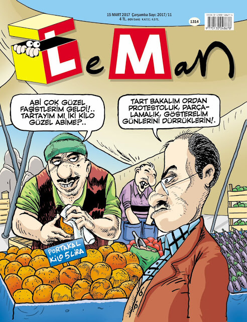 Leman Dergisi | 15 Mart 2017 Kapak Karikatürü