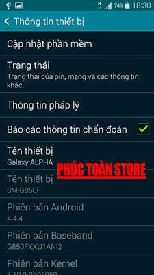 Tiếng Việt và unlocked Samsung G850F alt