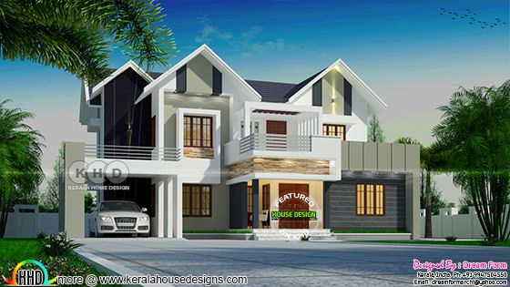 2381 square feet 4 bedroom double storied house