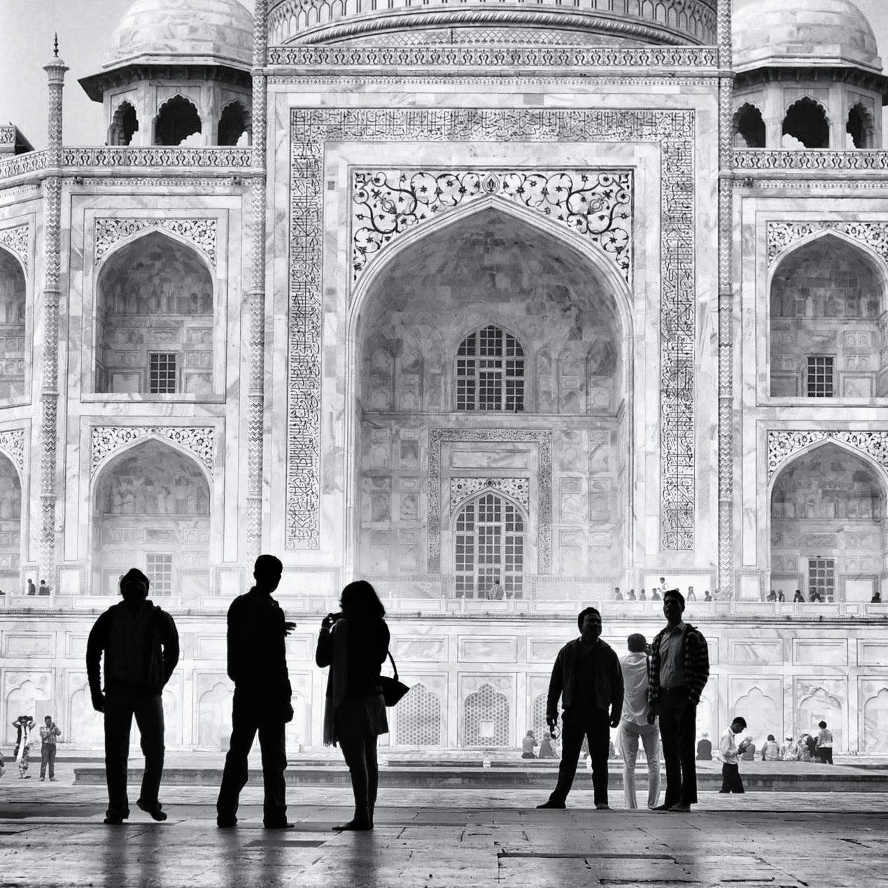 Taj Mahal Black and white Arga India