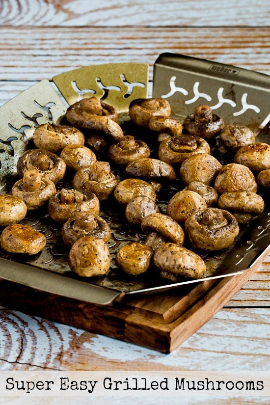 Super Easy Grilled Mushrooms from KalynsKitchen.com