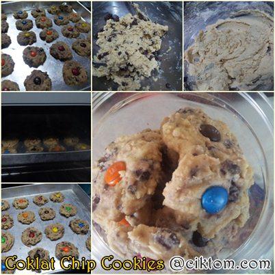Resepi Mudah Cara Buat Coklat Chip Cookies M&M