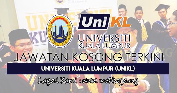 Jawatan Kosong Terkini 2018 di Universiti Kuala Lumpur (UniKL)