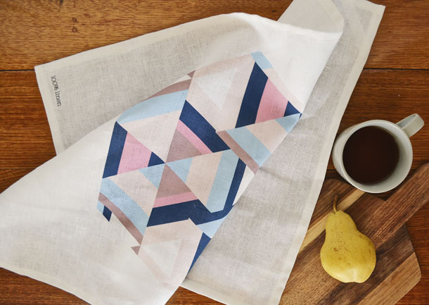 Aztechy Print Kitchen Tea Towel by little miss gee