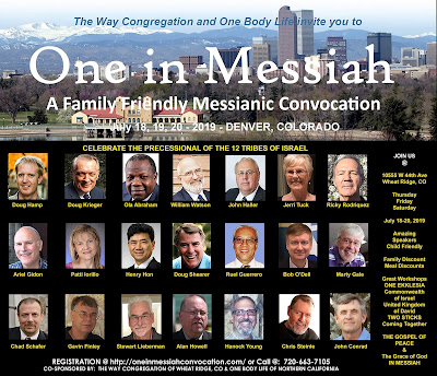 Image and link to One in Messiah registration http://oneinmessiahconvocation.com/