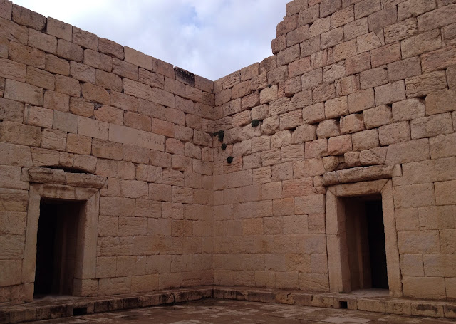 The stone made Temple of Anahita in Bishapur city.