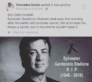 Sylvester Stallone Dead Hoax