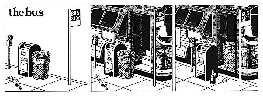 a a 1980s cartoon, The Bus