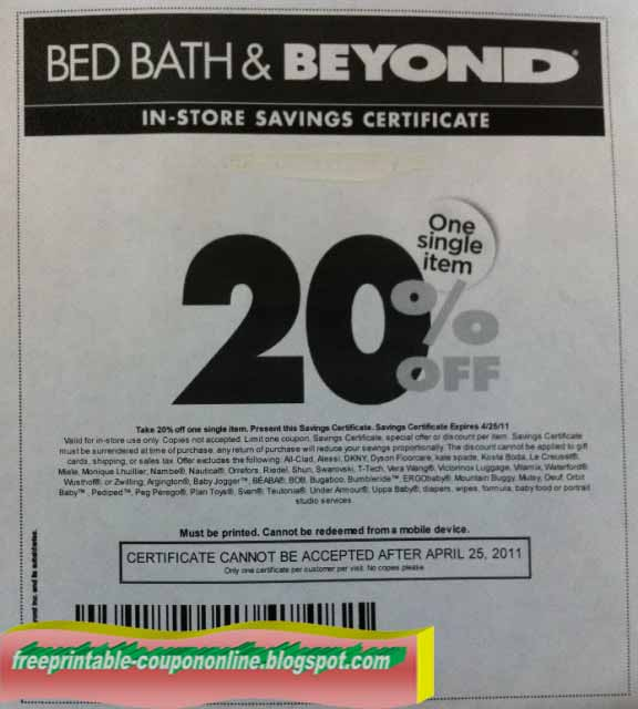 Bed bath and beyond printable coupon nov 2018